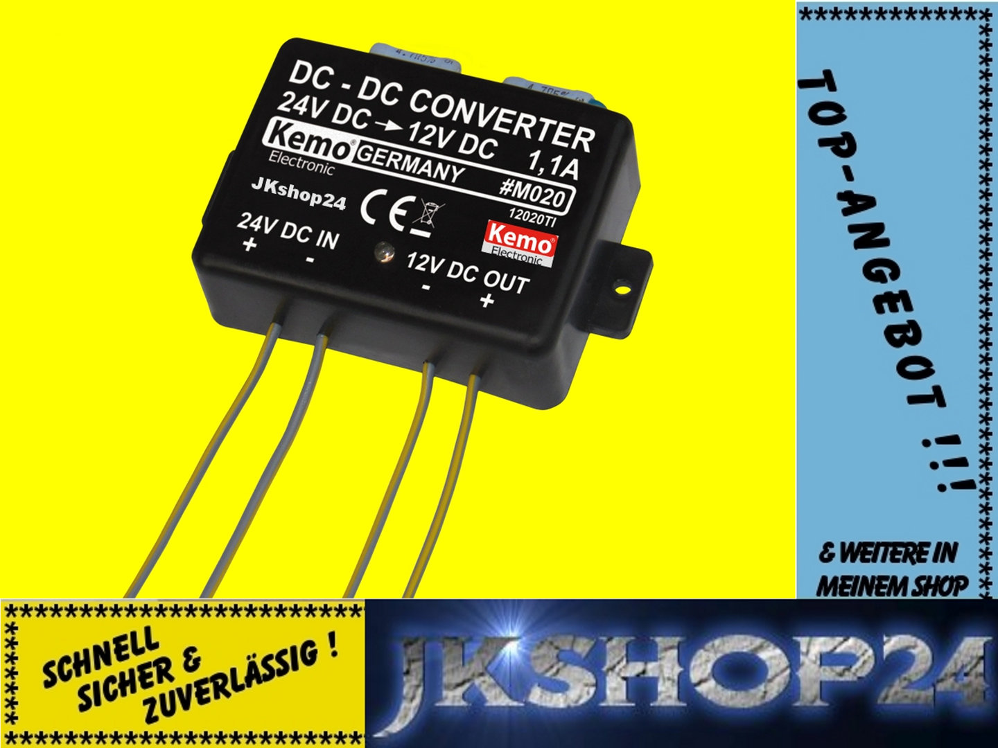 Kemo M020 Dc Spannungswandler 24v Auf 12v Max11a To Converter Circuit