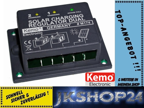 KEMO M174 DUAL/TWIN Solar-Laderegler bis 16A!