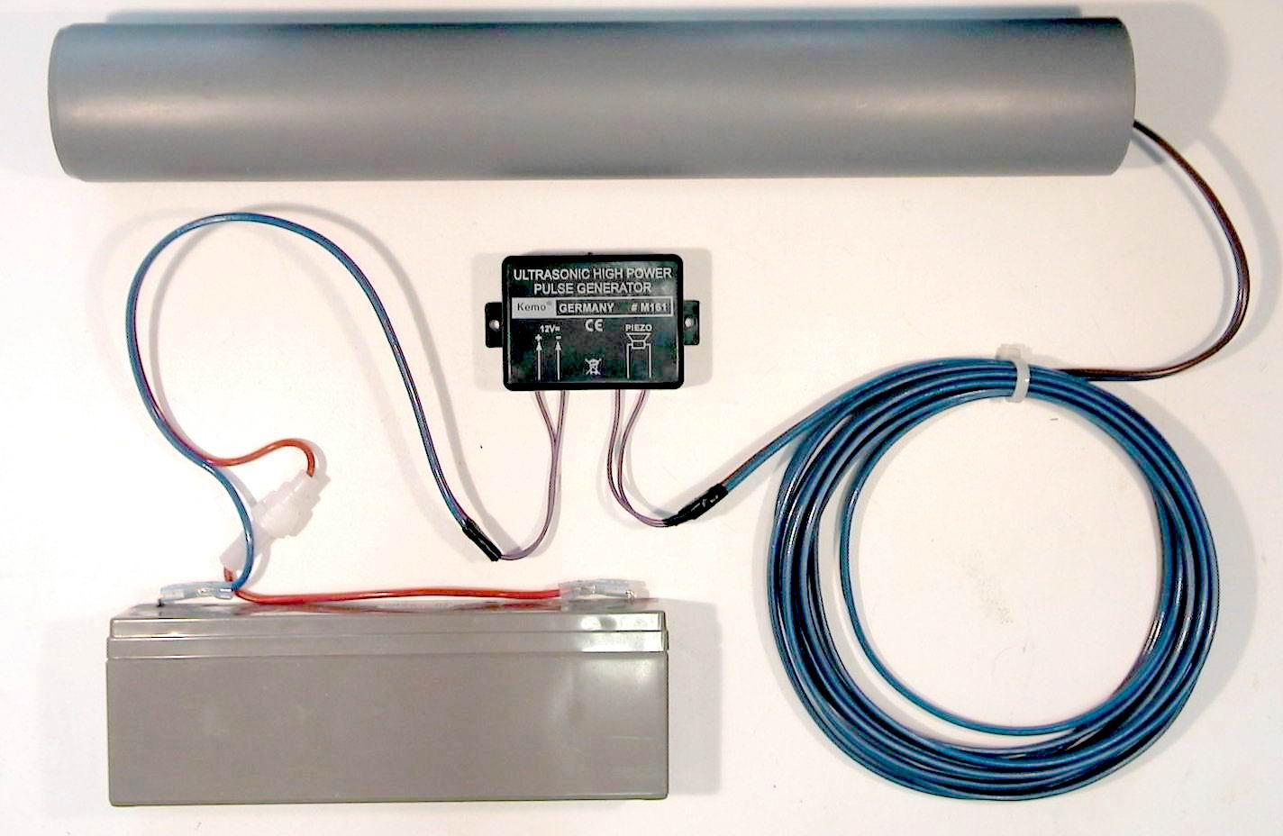 kemo m161 ultraschall power kanone 12v 120db www. Black Bedroom Furniture Sets. Home Design Ideas