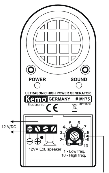 kemo m175 ultraschall tierscheuche tierabwehr. Black Bedroom Furniture Sets. Home Design Ideas