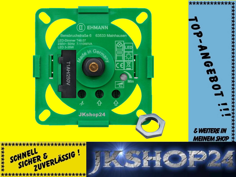 UNTERPUTZ LED-DIMMER+GLÜHLAMPEN+HALOGEN 7-110 Watt 3900x0700 T39.07 LEDs 3-35 W
