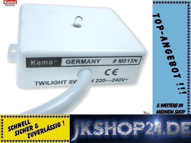 KEMO M013N Dämmerungs- Licht-Schalter 240V/AC - www.JKshop24.de