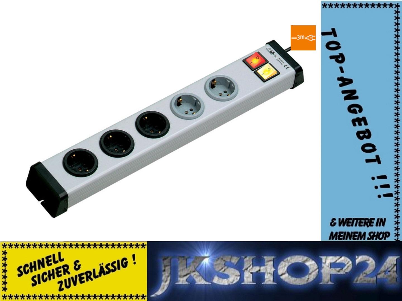 Universal Steckdosen-Leiste 3+2-fach m.Schalter mit 3m-Anschluß ...