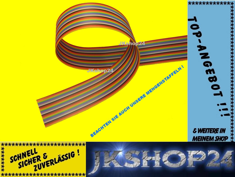 Flachbandkabel 34-polig/adrig AWG28 Flachbandleitung 1,27mm-Raster ...