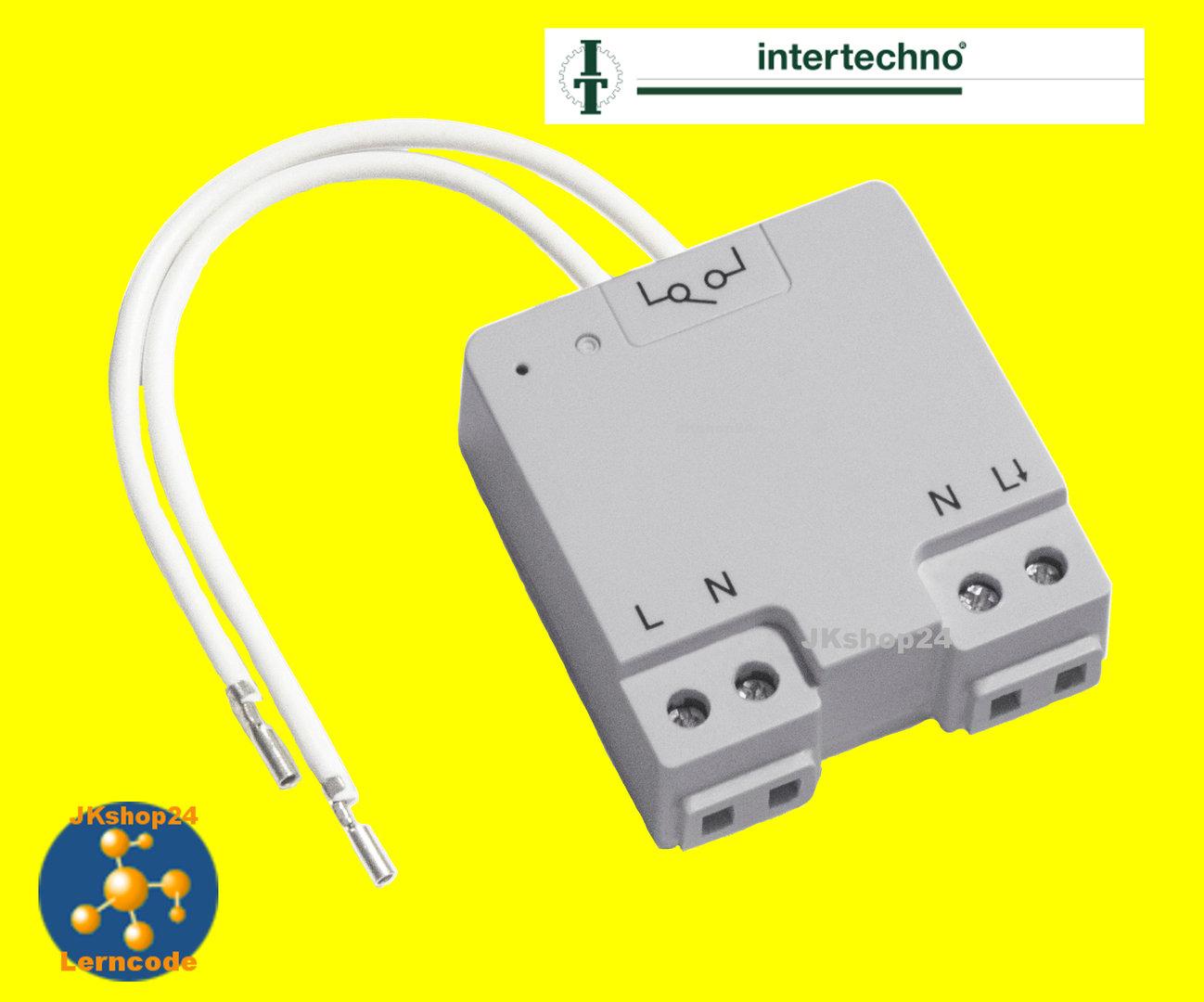 ITLM-1000 Funk-Lichtschalter-Modul schaltet LED Glühbirnen LSR u.v.m ...