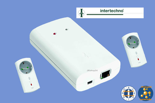 ITGW-433L Intertechno-Starter-Set:1 x 433-MHz-LAN-Gateway + 2 x Funk-Zwischenstecker ITLR-3500