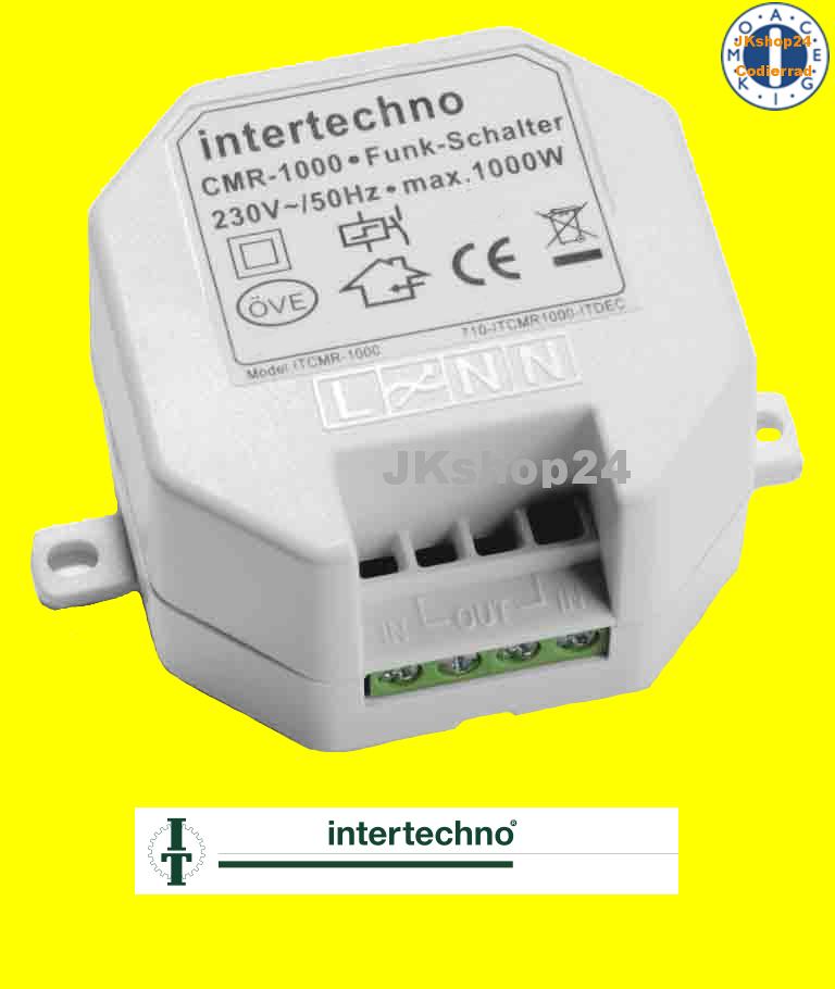 CMR-1000 Funk-Einbauschalter EIN/AUS max. 1000 Watt - www ...