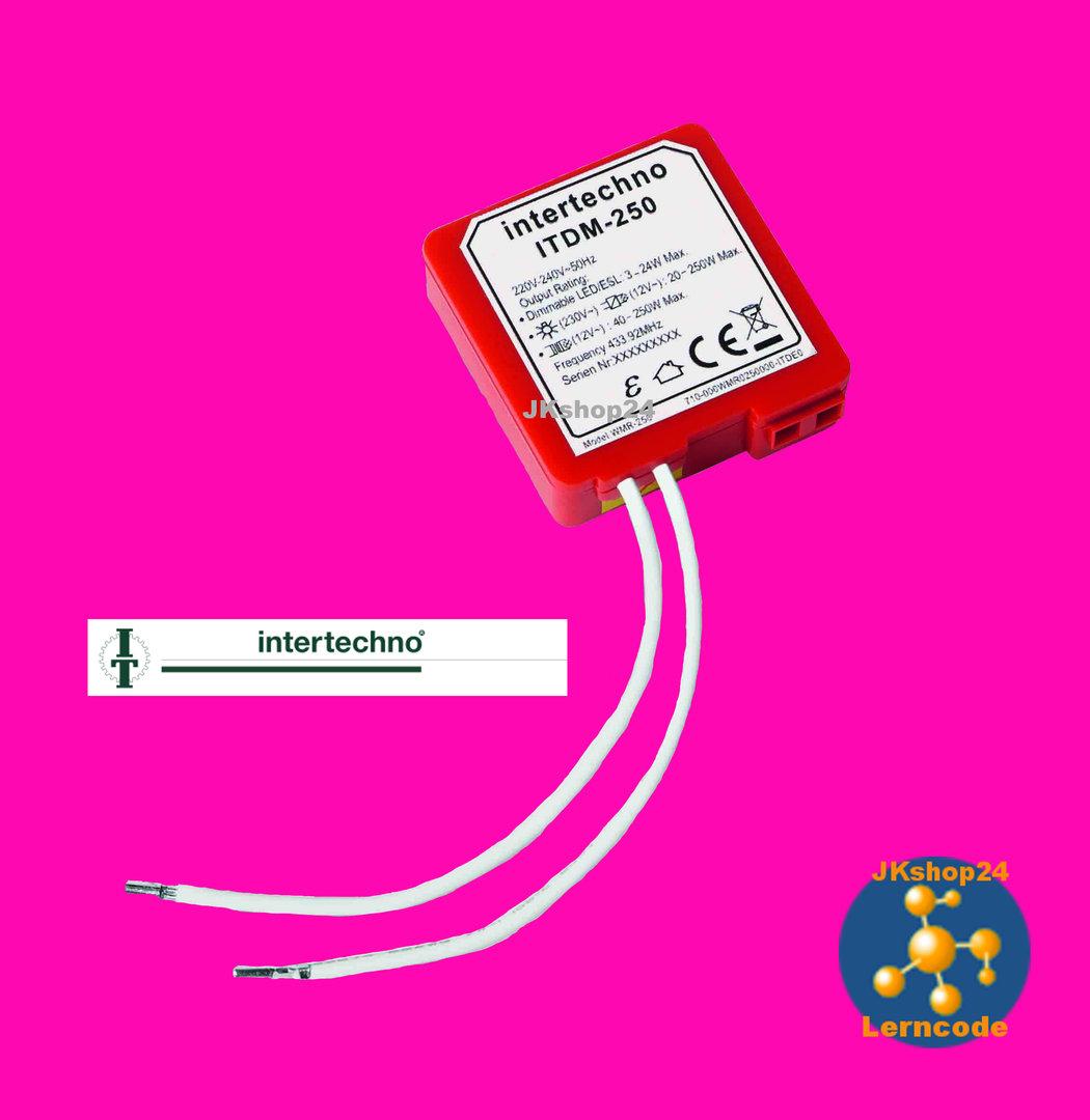 ITDM-250 Funk-Dimmer-Modul LED, ESL, HV-Halogen, Glühlampen max ...