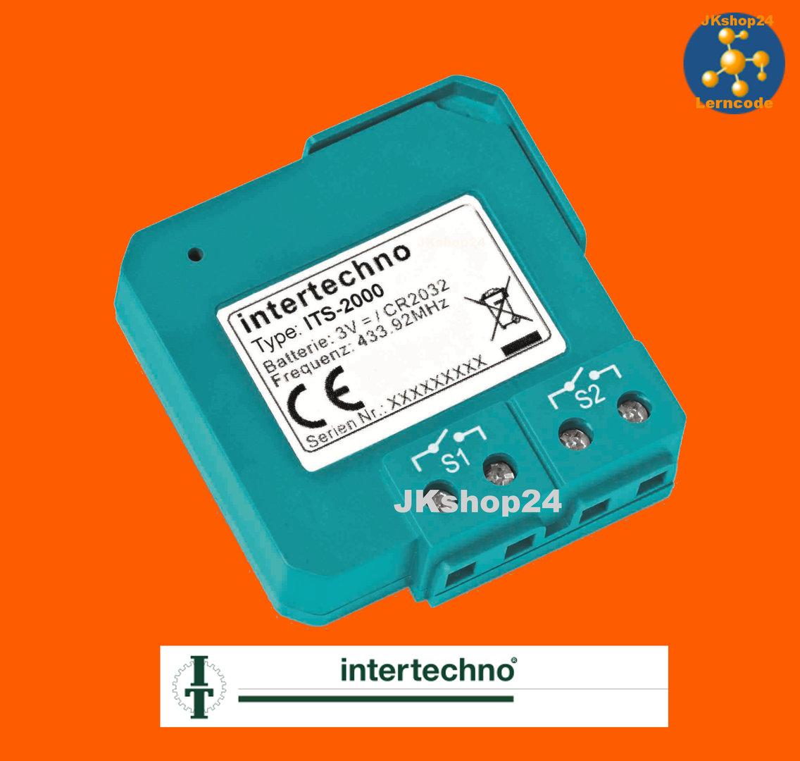 ITS-2000 Funk-Twin-Sender 2-Kanal potentialfrei - www.intertechno.shop