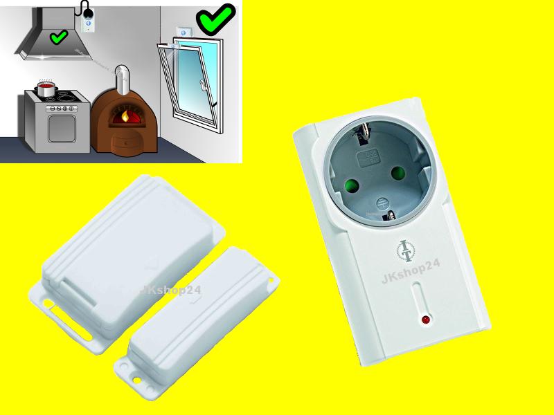 Funk Abluftsteuerung-Set Intertechno Fenster-Schalter Set für Kamin ...