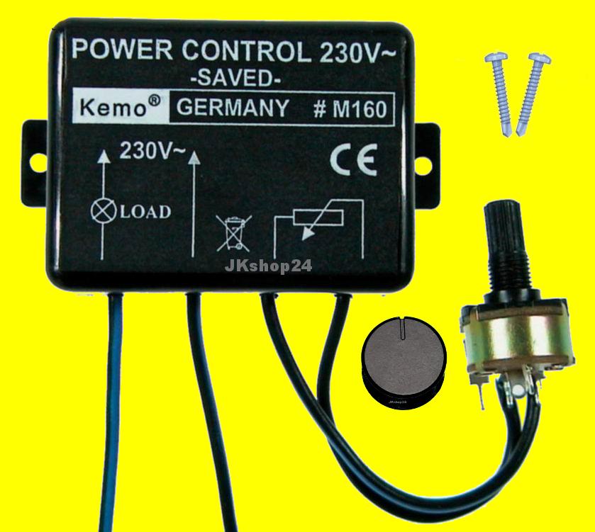 Motorregler Lampen-Dimmer Motor-Regler Leistungsregler Motordimmer Power Control