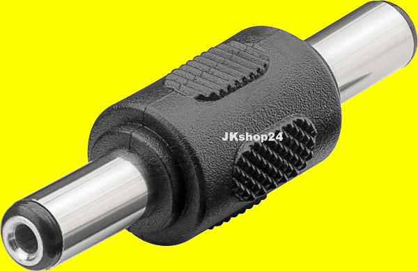 Niedervolt-Kupplung DC BUCHSE 5,5x2,1 auf DCBUCHSE 5,5 x 2,1 mm 12 V//DC max.6 A