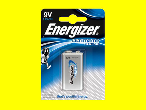 Energizer Ultimate Lithium L522 9V E-Block Batterie 1200 mA 6LR61 9B 9 V